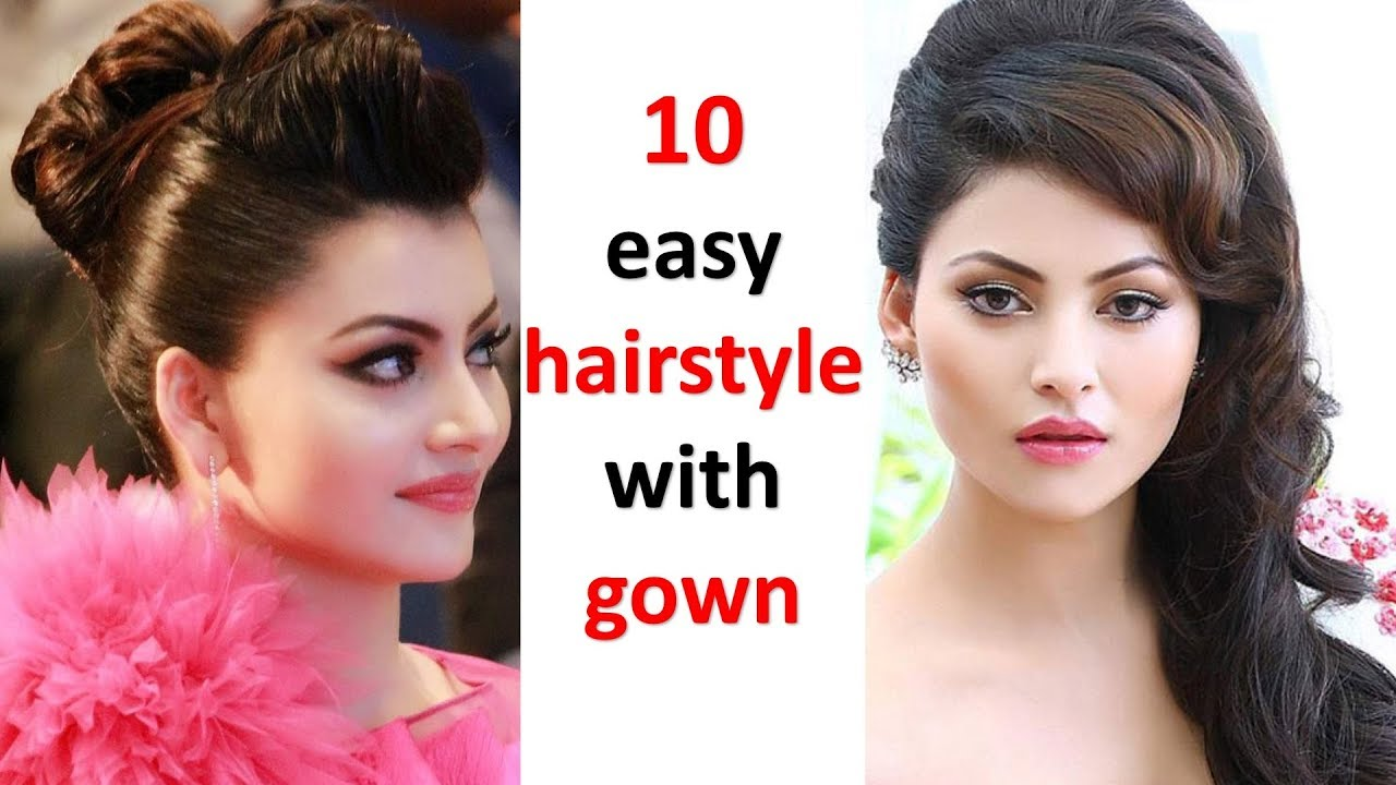 12 different and easy hairstyles with gown  hairstyle for girls  ladies  hairstyle  cute hairstyle