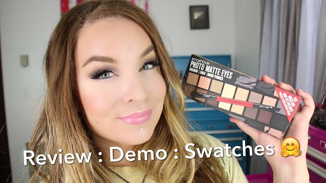 Smashbox Photo Matte Eyes Palette Shadow Liner Brow Powder