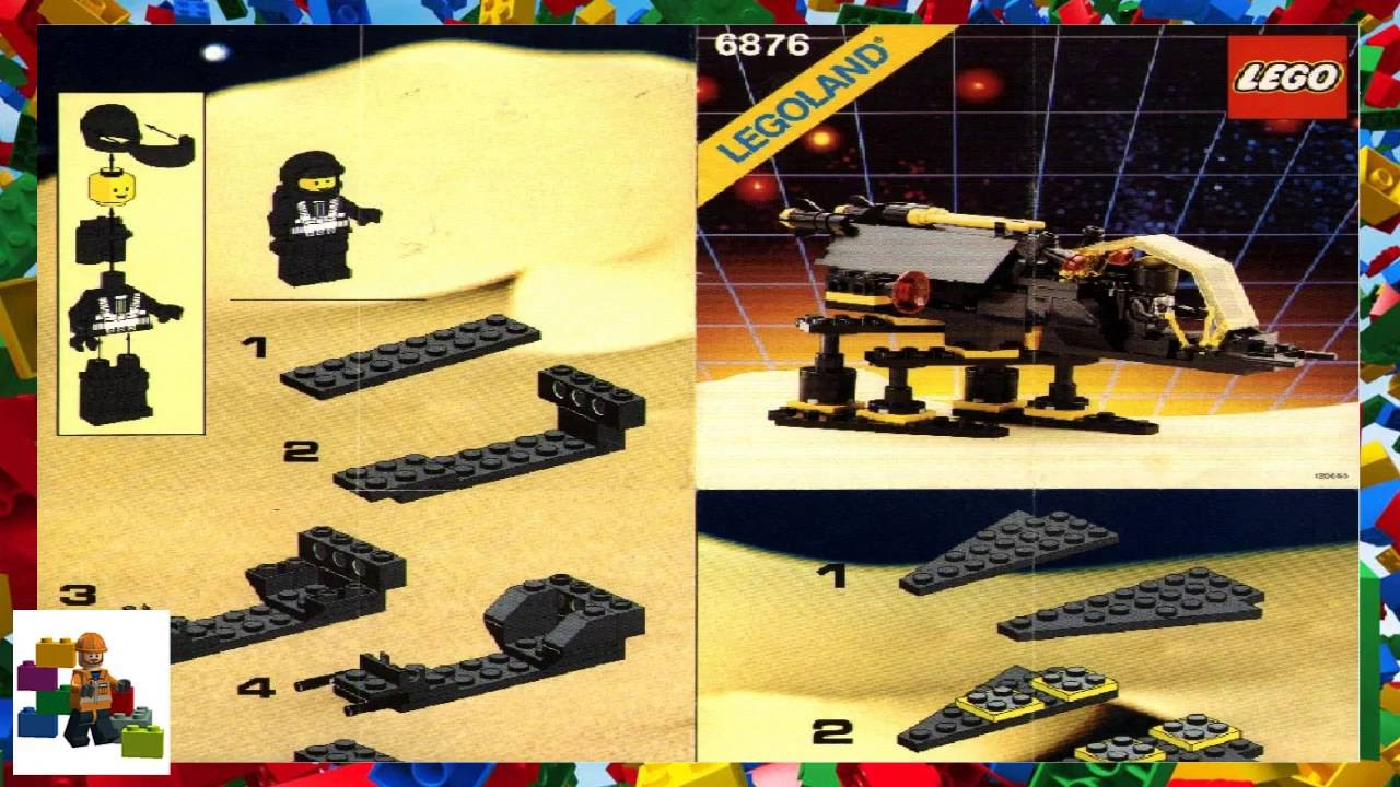 Lego Instructions Space Blacktron I 6876 Alienator Youtube