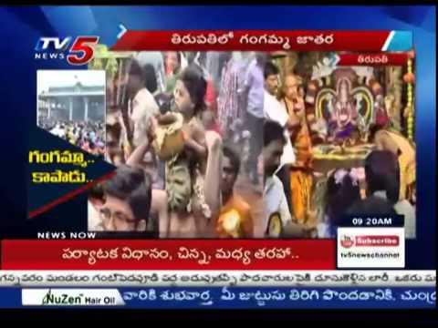 Grand Celebrations Of Gangamma Jathara In Tirupati : TV5  News