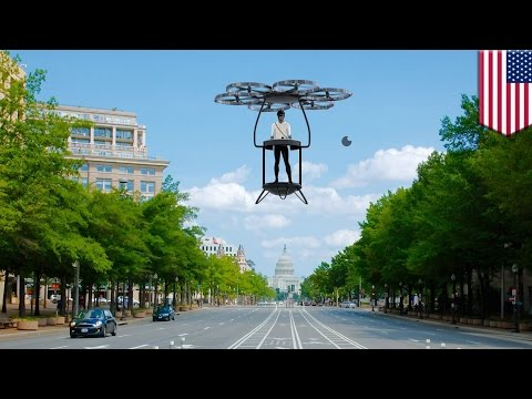 Future technology: VTOL Solexa personal flying vehicle helps commuters beat traffic - TomoNews
