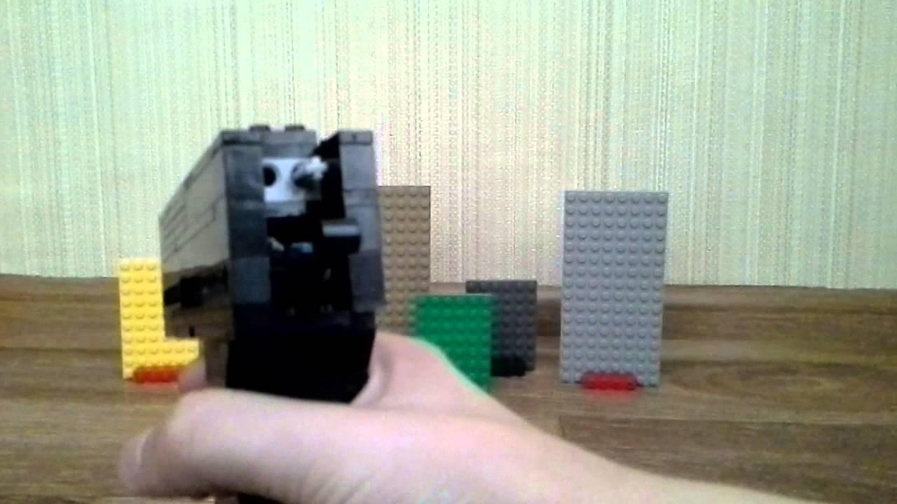 Как сделать пистолет из лего стреляющий деталями