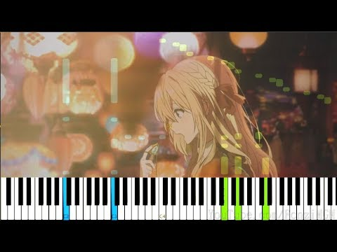 "【FULL】[Violet Evergarden OP] ""Sincerely"" - TRUE (Synthesia Piano Tutorial)"