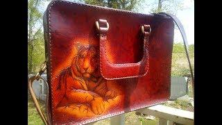Изделия из кожи ручной работы CLEVER Обзор женской сумки портфеля
