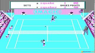Tennis PC gameplay (PC Game, 1985)