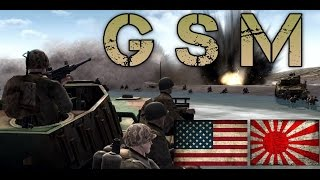 "Men Of War Assault Squad (GSM mod) - ""Iwo Jima"" - Japan vs USA"