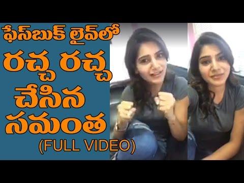Samantha FACEBOOK Live Full Video | Celebrities Live Chat | Latest Interviews | Top Telugu Tv