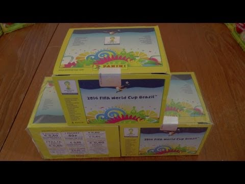 UNBOXING BOOSTER BOX ☆ Panini FIFA WORLD CUP 2014 Sticker Collection ☆ 100 PACKS!!!