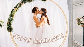 OUR WEDDING HIGHLIGHT VIDEO!   Allie and Sam   Lesbian Couple