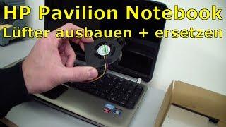 Notebook HP Pavilion - Fan replacing - Hewlett-Packard Laptop Lüfter ersetzen - [English subtitles]