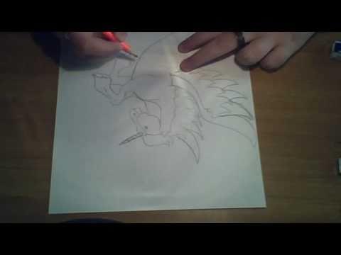 Disegnare un magnifico unicorno alato in poco pi di 3 - Unicorno alato pagine da colorare ...