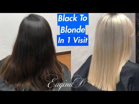 EuqinaD Black to Blonde Tansformation