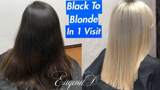 EuqinaD Black to Blonde Tansformation