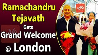 Special Envoy of Telangana Govt, Ramachandru Tejavath Gets Grand Welcome in London | YOYO TV Channel