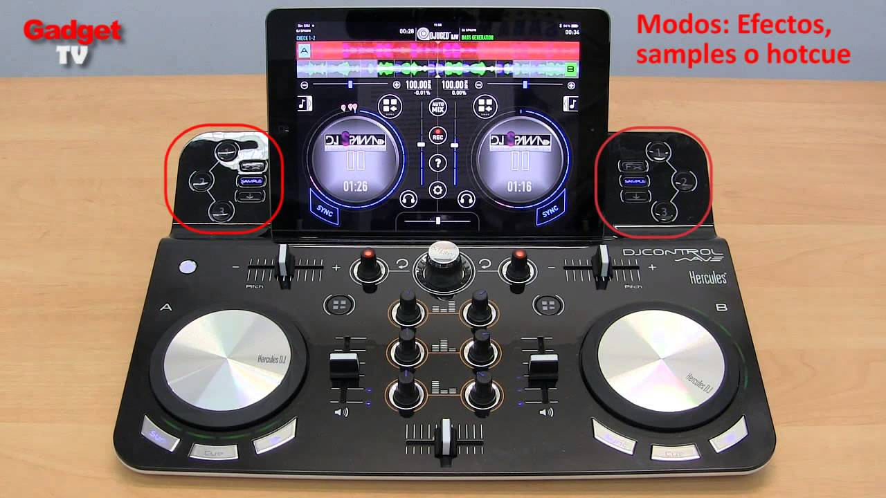 Hercules dj control wave review en espa ol mesa de for Mesa de mezclas de video