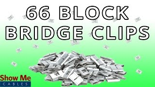 Bridge Clips for 66 Wiring Block - Quickly Connect Phone & Data Lines #2603