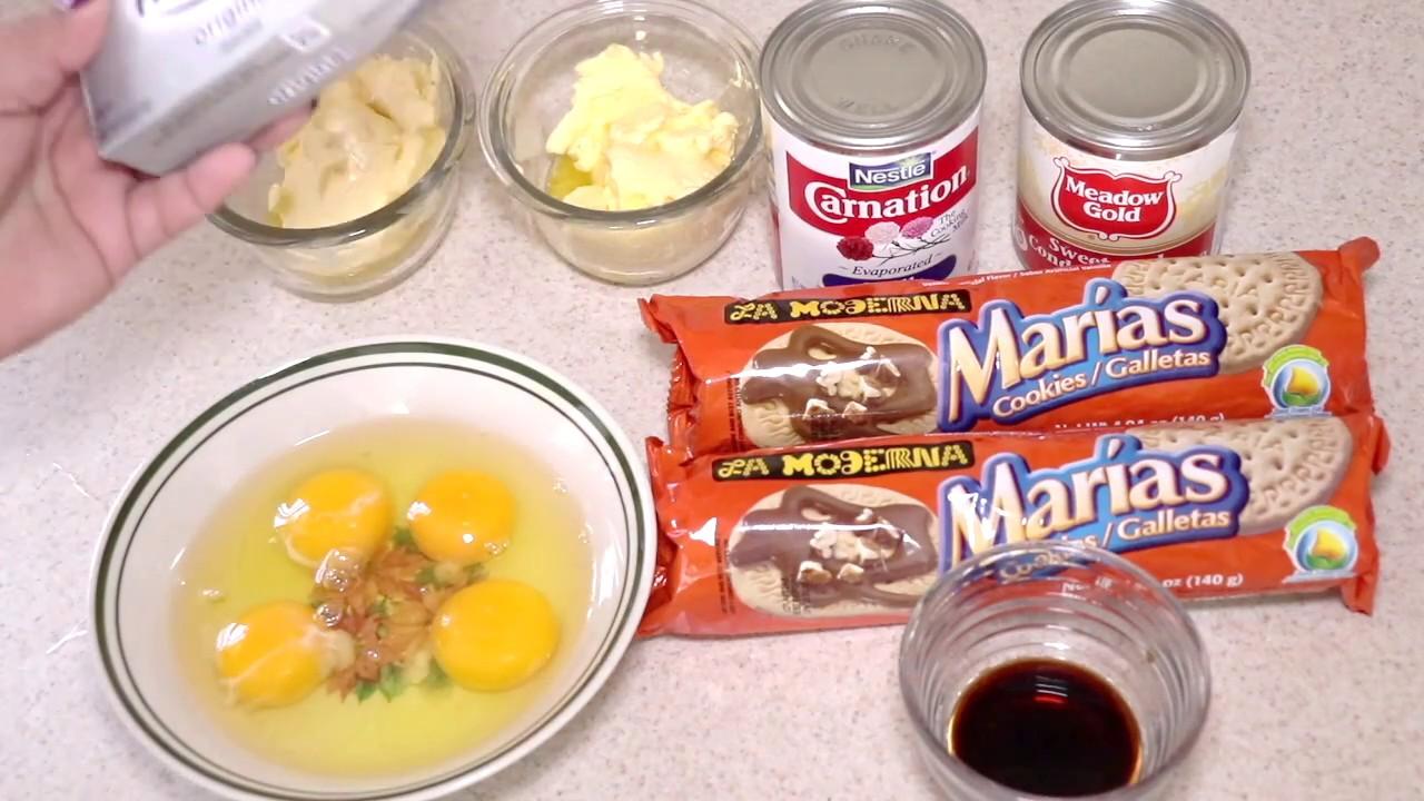 Cheesecake De Galletas Marías Y Queso Philadelphia Pay De Queso Cocina Delicioso Con Reina Youtube