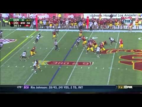 USC QB Matt Barkley vs Hawaii ᴴᴰ