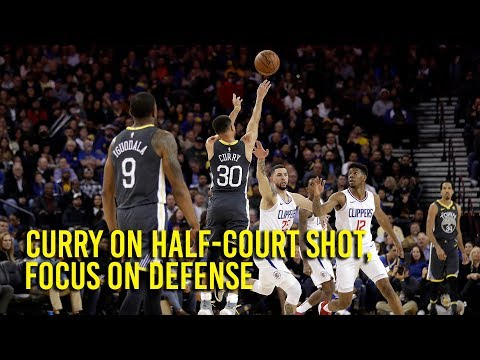 Curry talks half-court shot, staring down Clippers owner, defensive focus