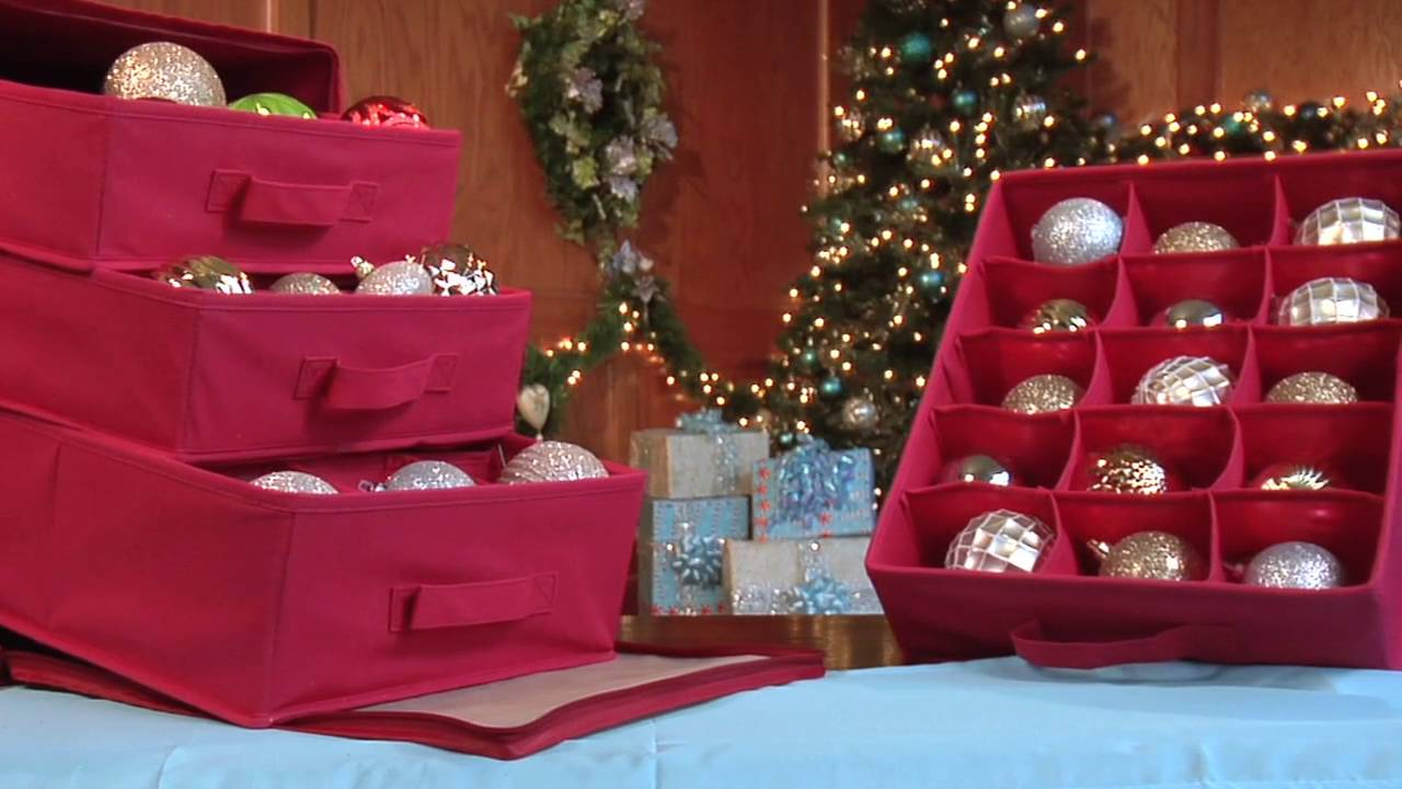 Paula Deen Collection Holiday Ornament Organizer by Jokari  YouTube
