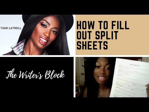 Tami LaTrell - How To Fill Out Split Sheets and Publishing