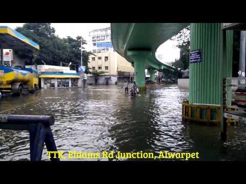 Chennai Floods / Rains - TTK, Eldams & Oliver Road, Alwarpet