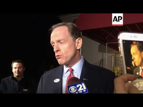 Sen. Toomey: 'I Voted for Donald Trump'