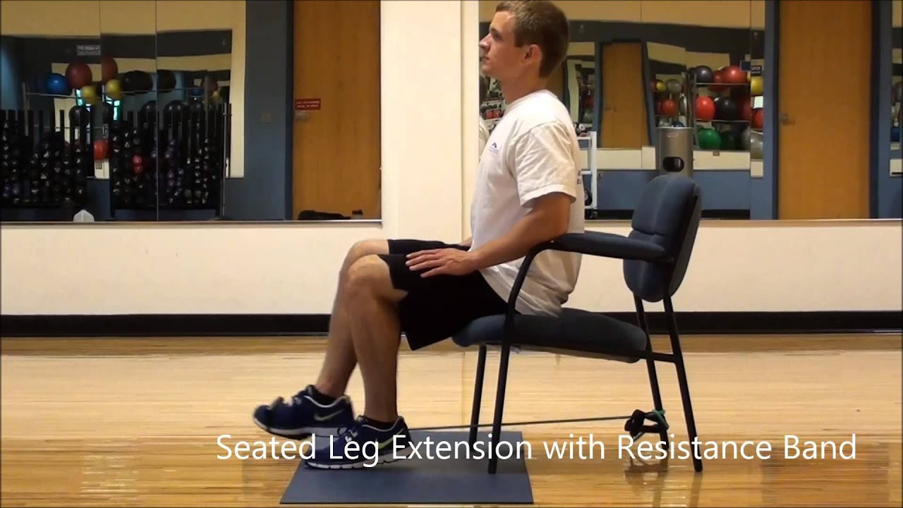 Chair Exercises On Cable Tv Hanging Hammock Outdoor Seated Leg Extensions With Resistance Band - Youtube