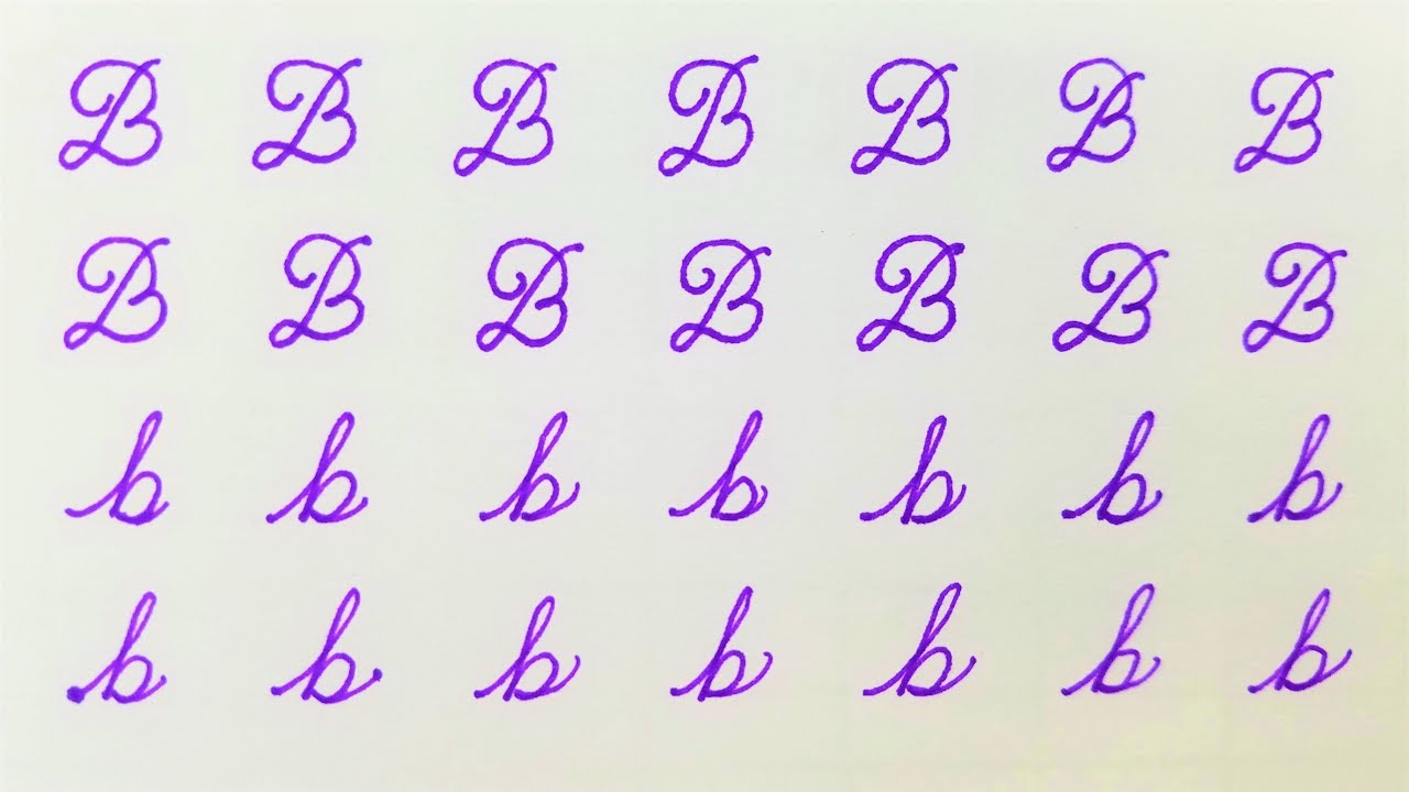 letter b learn to write cursive calligraphy letter b youtube
