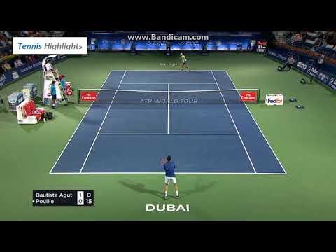 Lucas Pouille Vs Roberto Bautista Agut Atp 500 Dubai Final (HD Highlights)