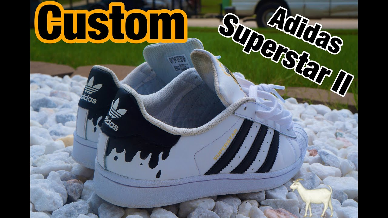 Onwijs DRIPPY Custom Adidas Superstar II's (Custom Timelapse) - YouTube NF-63