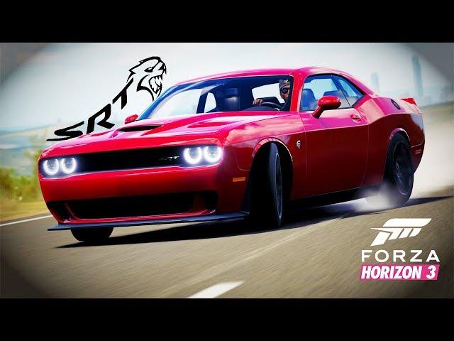 "Американски мускул ""Oх майко"" - Dodge Challenger SRT Hellcat   Forza Horizon 3"