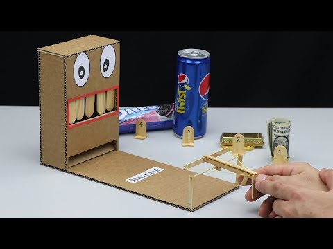 How to make Mini Game Gun Shooting from Cardboard