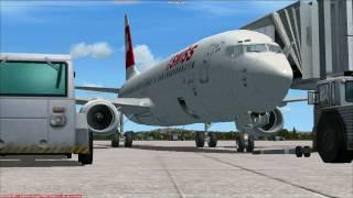 FSX Flight Zurich to Cologne-Bonn with Swiss