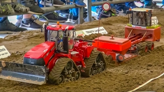 BIG RC tractor Action! R/C tractors working hard! Case! John Deere!