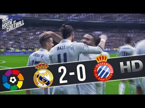 Real Madrid vs Espanyol 2-0 All Goals and Highlights (La Liga) 18.02.2017 HD