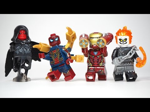 Avengers Infinity War Iron Man Weapon Iron Spider man Red Skull Unofficial Lego Minifigures