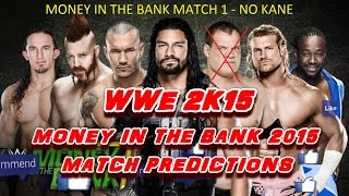 WWE Money In The Bank 2015 (Predictions): Money In The Bank Match No. 1 No Kane Simulation, PS4.