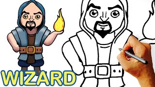 How to Draw Wizard Clash Royale / Clash of Clans Step by Step