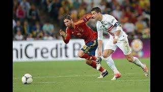 Cristiano Ronaldo destroying Ramos ( Spain Vs Portugal )