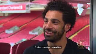 كل يوم - عمرو أديب ينفعل على صلاح في أخر سؤال : هو ده الأكل اللي بتاكله هنا؟!
