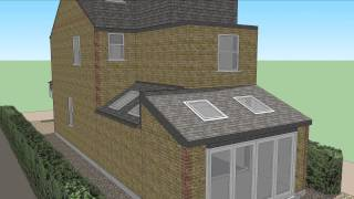 3d View Of Recent Works - Rear And Side Extensions + Front Elevation Alterations