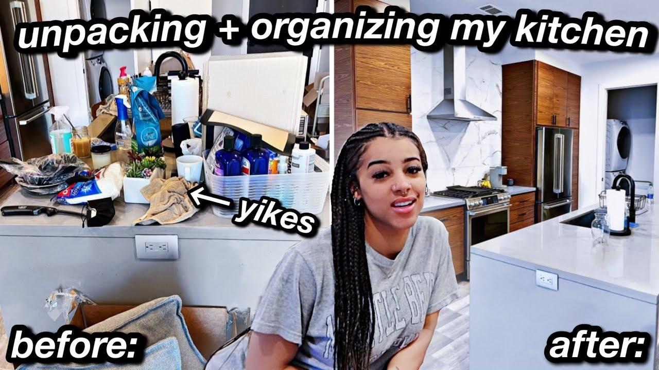 unpacking + organizing my NEW kitchen! | Azlia Williams