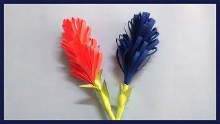 DIY Lavender Paper Flowers | Simple & Easy Paper Crafts for Beginners | DIY-Paper Crafts for Kids