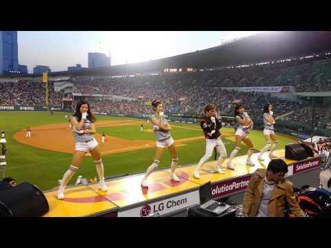 Lotte giants cheer leader psy gentleman