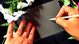 Mandala art // flower doodling on rainbow scratch paper  // magic art