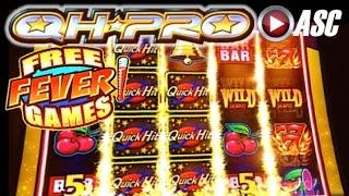 QUICK HIT PRO Triple Blazing 7s (FEVER Free Games) | Bally - NICE WIN! Slot Machine Bonus (QH PRO)