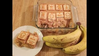 Banana Pudding with Chessmen Cookies and Caramel
