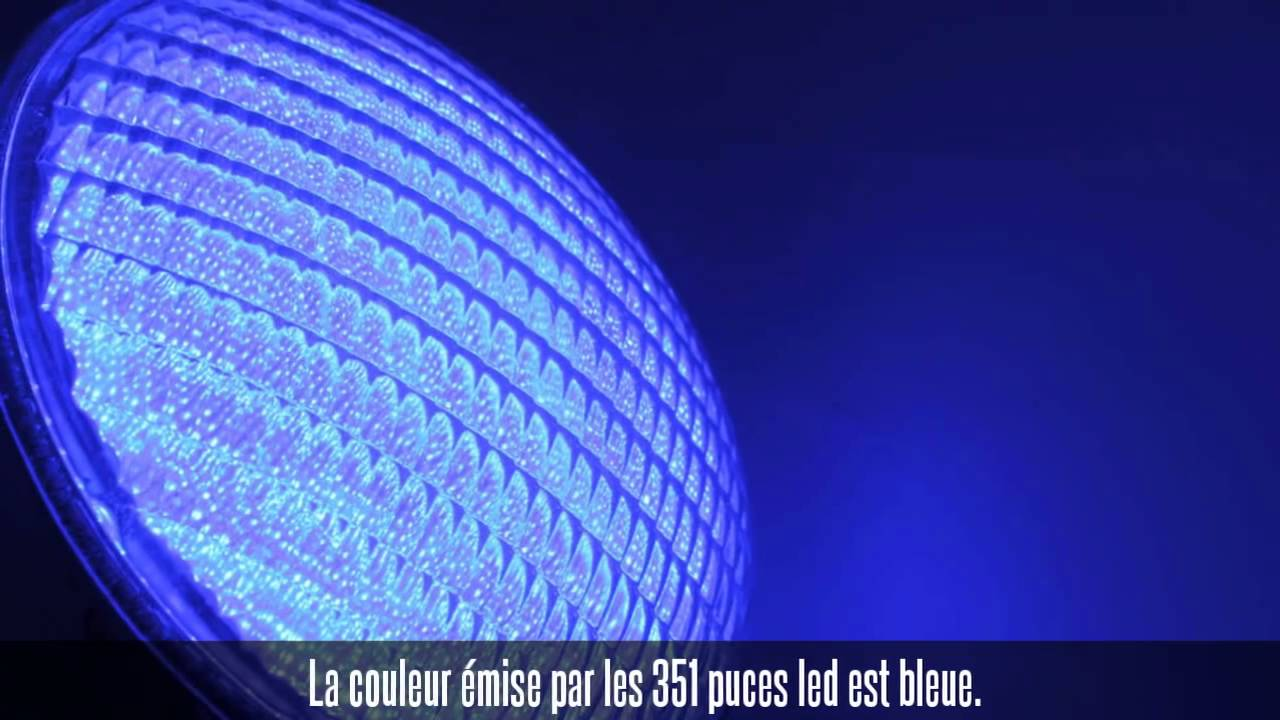 ampoule led piscine bleue youtube. Black Bedroom Furniture Sets. Home Design Ideas