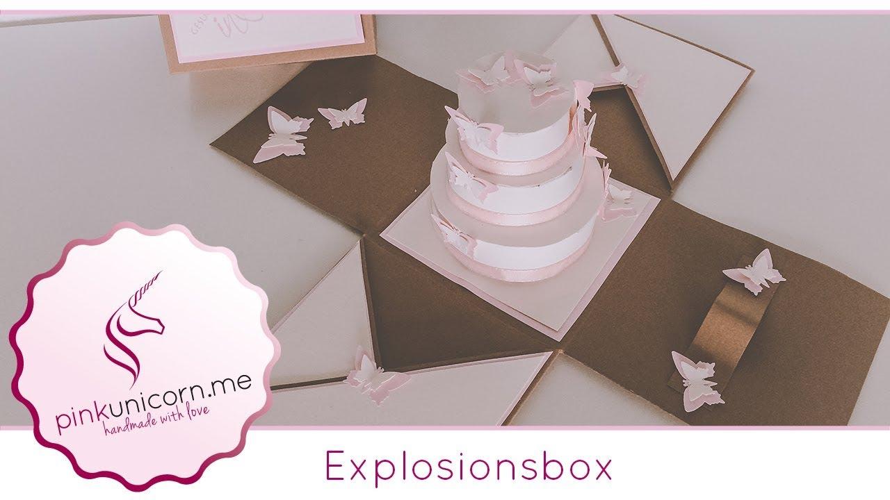 Explosionsbox Basteln Diy Bastelideen Anleitung Pinkunicornme